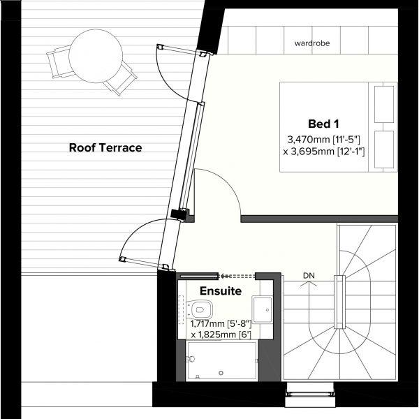 Type 1 - 2nd Floor Plan