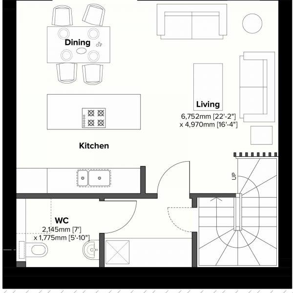 Type 1 - Lower Ground Floor Plan