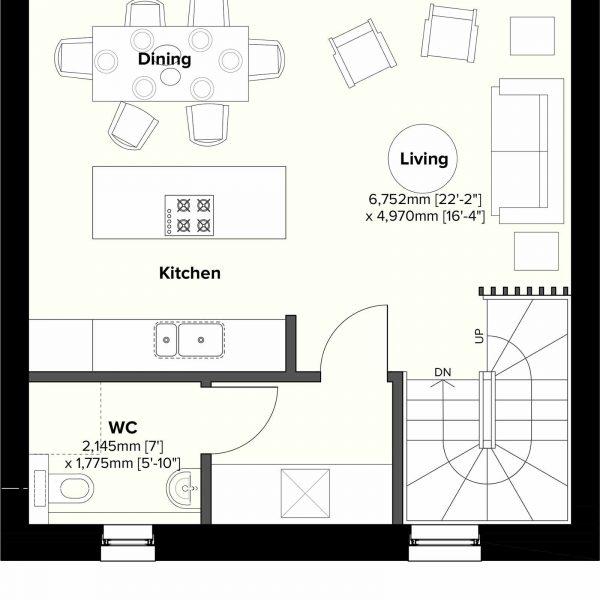Type 2 - 1st Floor Plan
