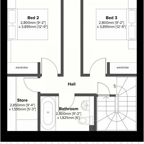 Type 2 - Lower Ground Floor Plan