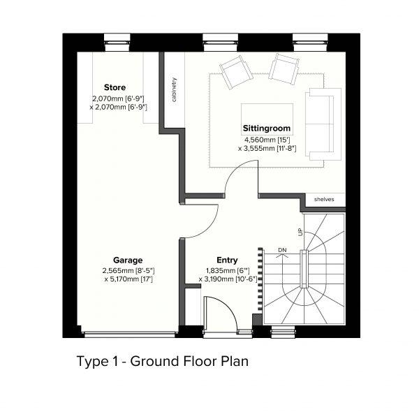Type 1 - Ground Floor Plan